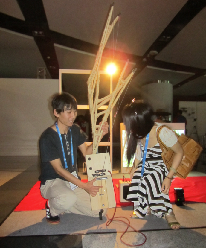 Yuto Hasebe with the tree guitar