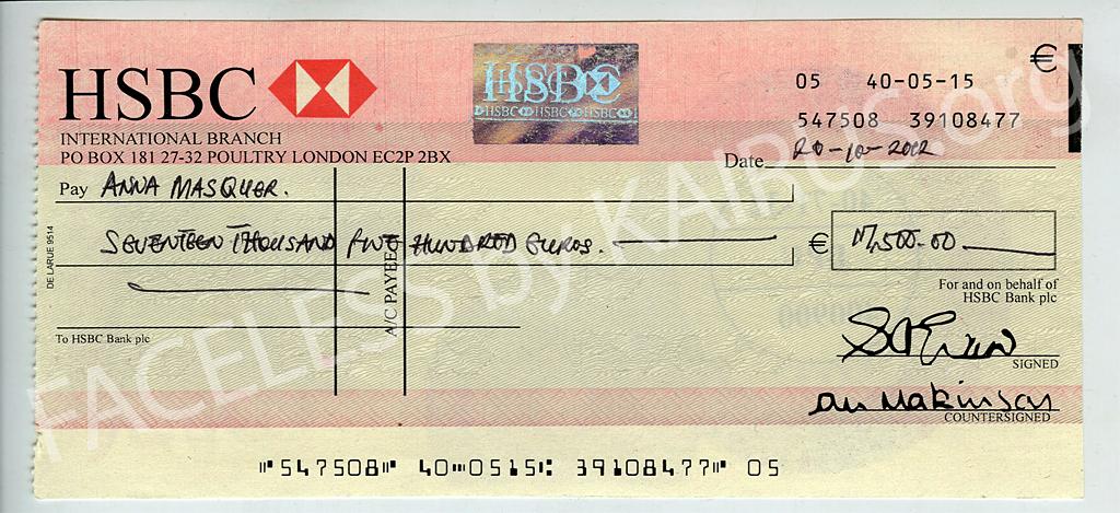 How do you write a cheque hsbc