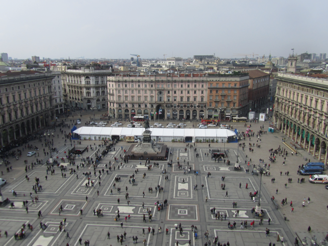 Top view from the cathedral in Milan