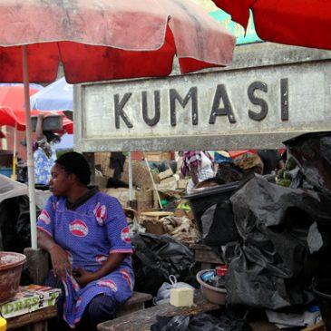 08/2014 AIR: Kumasi Central Market market/Kejetia market, Ghana