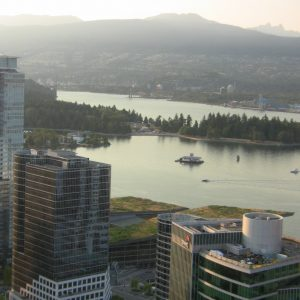 Vancouver lookout tower with revolving restaurant