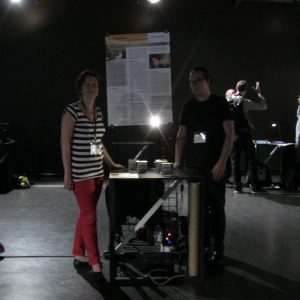 Linda and Andreas in the dark demo room
