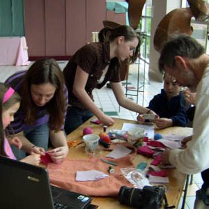 Hop-on-hop-off Killer Fashion Revolution Workshop at the Human Rights Arts Festival in Silver Spring, MD, USA.