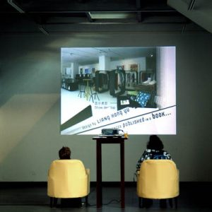 "At the ""Intersection"" exhibition in Nova gallery ""Opening Museums"" was presented as an video."