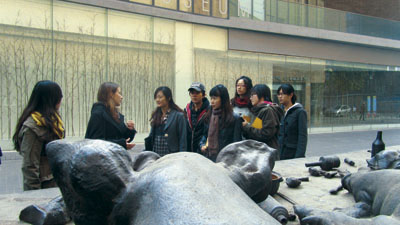 We did a field tripp to Today Art Museum and gave the students a design task.