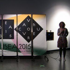 Ana Carolina von Hertwig presenting her unfinished business