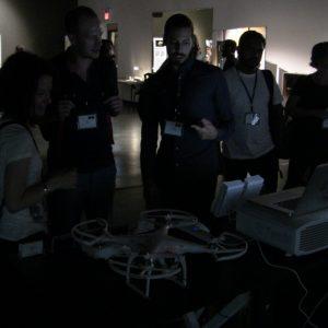 Emilio Vavarella presenting his project Memoscope