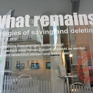What remains - Strategies of saving and deleting