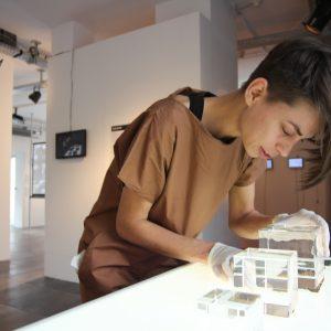 Mikaela Lakova preparing her cold storage