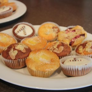 Muffins made by Silvia Zingerle for the opening! Thank you a lot for that!